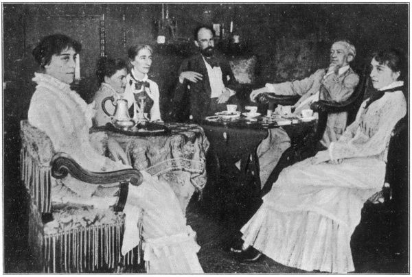 RICHARD WAGNER German composer at home with his wife, Cosima, members of the von Bulow family and others