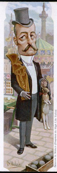 P M H E WALDECK-ROUSSEAU French statesman depicted with prizes he has just won at the fair