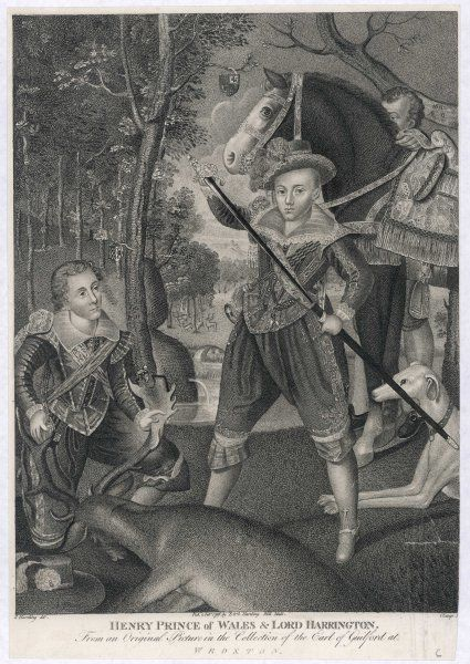 HENRY FREDERICK PRINCE OF WALES Eldest son of James I, out hunting with Lord Harrington