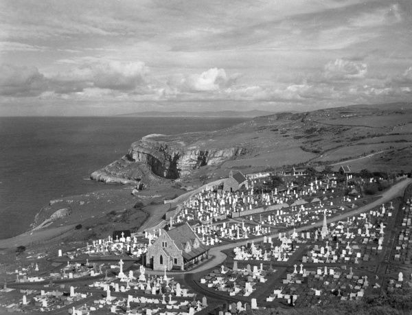 St. Tudno Church and burial ground, Great Orme, Caernarvonshire, Wales. Date: 1950s