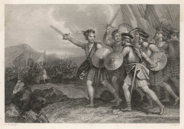 William Wallace leads the Scots against the English