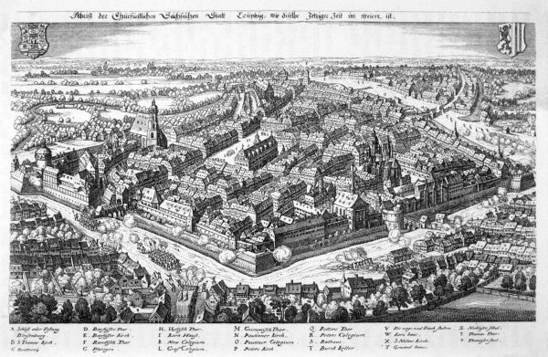 Wallenstein's army besieges Leipzig, held by the Protestants Date: 1632