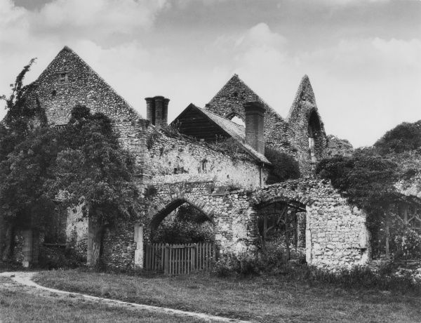 Abbey ruins of the Priory of Austin Canons, which was founded in 1149, Little Walsingham, Norfolk, England. Date: 16th century