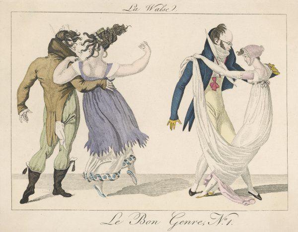 Two Parisian couples whirl around the dance floor