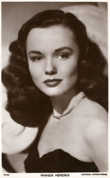 WANDA HENDRIX American film actress of the 1940s and 50s