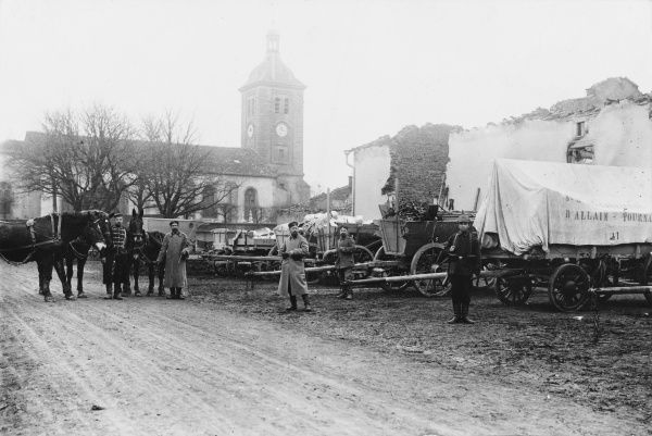 Materiel supplies in Billy, South Longuyon before World War I