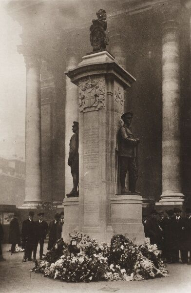 War Memorial outside the Royal Exchange in the City of London, erected in 1920