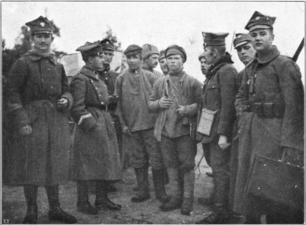 Bolshevik Russia attempts to seize the new republic of Poland, but the Poles fight for their independence with patriotic fervour : Russian prisoners and their captors