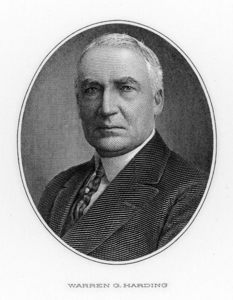 WARREN GAMALIEL HARDING 29th US President
