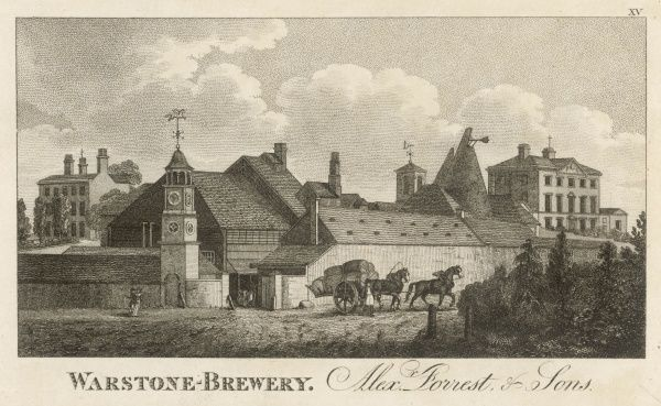 View of the Warstone Brewery, Alex. Forrest & Sons