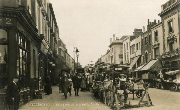 Warwick Street (now Warwick Way), Pimlico, London - street market