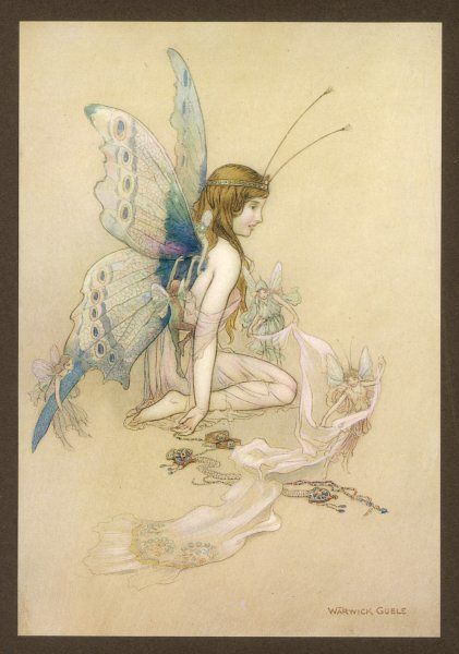 Fairies provide a human girl with fairy wings