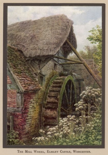 The watermill wheel at Elmley Castle, Worcestershire