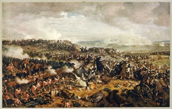 Battle of WATERLOO The Highlanders form a square to withstand the cavalry charge of the French cuirassiers