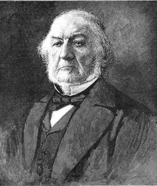 Engraving of William Ewart Gladstone, the English Liberal statesman, at the time of his fourth Premiership (1893)
