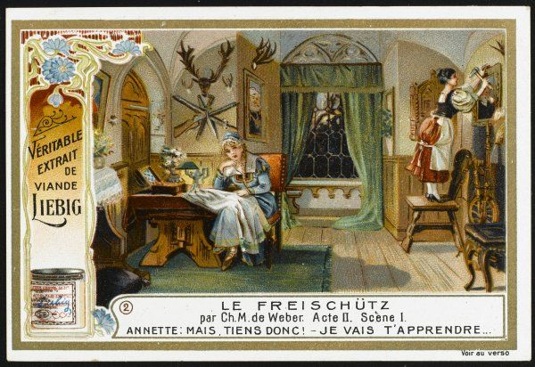 Act two, scene one : Agathe and Aennchen in the head ranger's house
