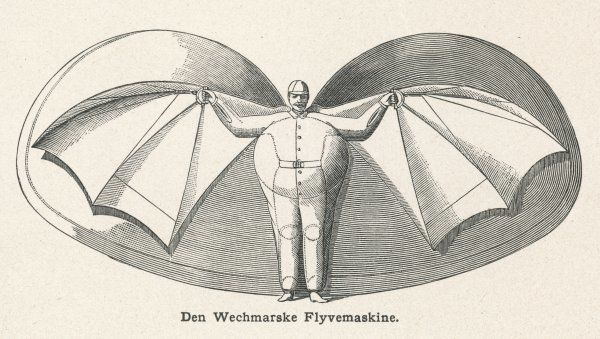 Flying man project of Herr WECHMAR, of Austria