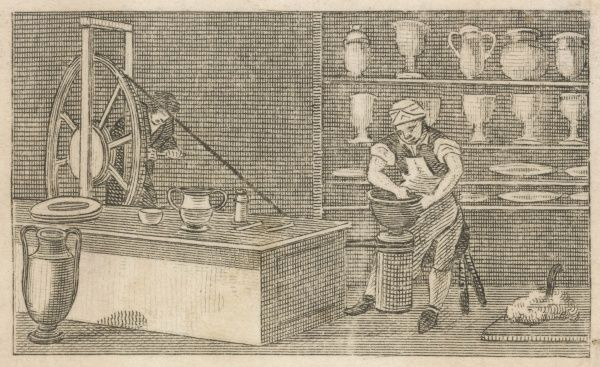 Workers in Wedgwood's pottery factory
