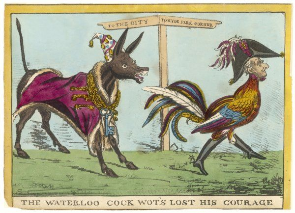 'THE WATERLOO COCK WOT'S LOST HIS COURAGE' - the Lord Mayor of London reproaches the Duke for his anti-reform attitude