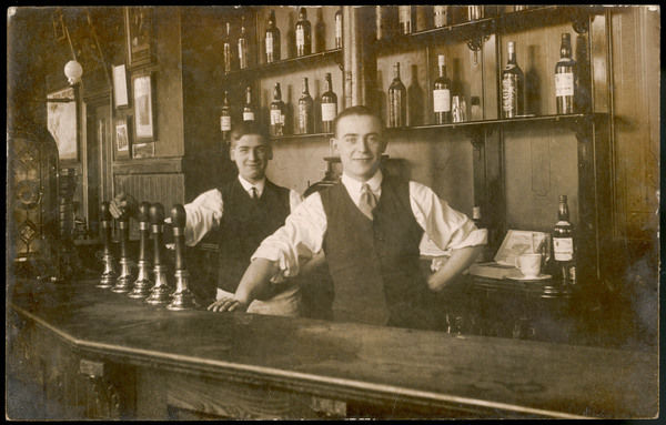 The barmen of The Wellington, Wood Green, London
