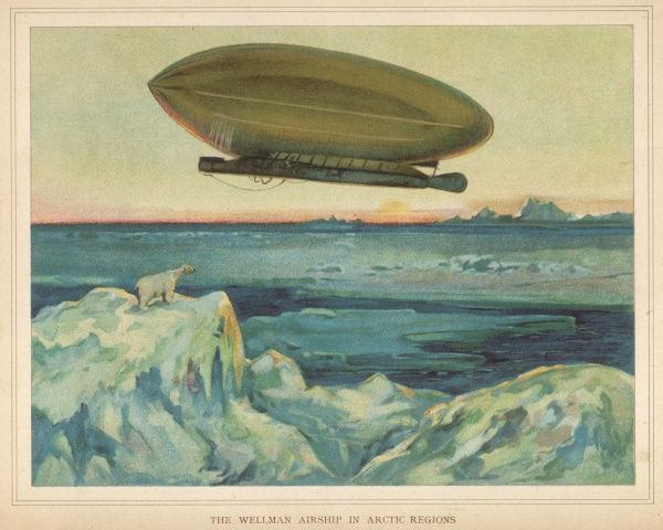 Newspaperman Walter Wellman's airship in an Arctic expedition