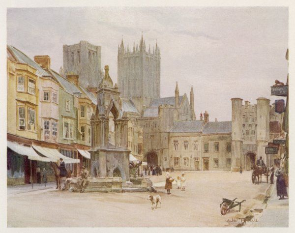 Wells, Somerset: the market place