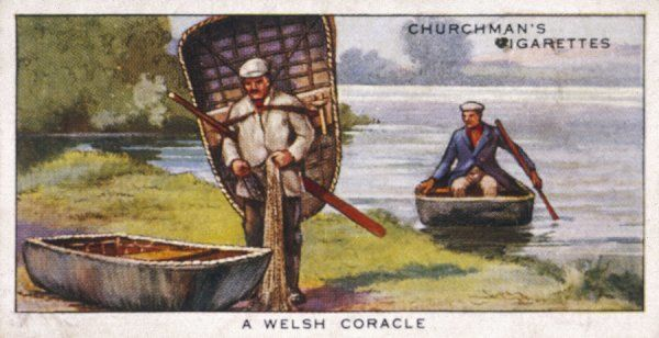 Welsh coracles are made of wickerwork covered with a watertight material, though fragile they are sturdy and light