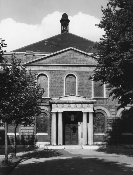 "Wesley's Chapel. City Road, London EC1, designed by George Dance and built by Samuel Tooth in 1778. It is often referred to as ""The Cathedral of Methodism&quot"