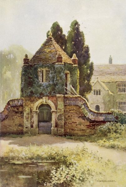 Wessex scenery: Poxwell Manor House, model for Oxwell Hall in Thomas Hardy's novel 'The Trumpet-Major' Date: 1910
