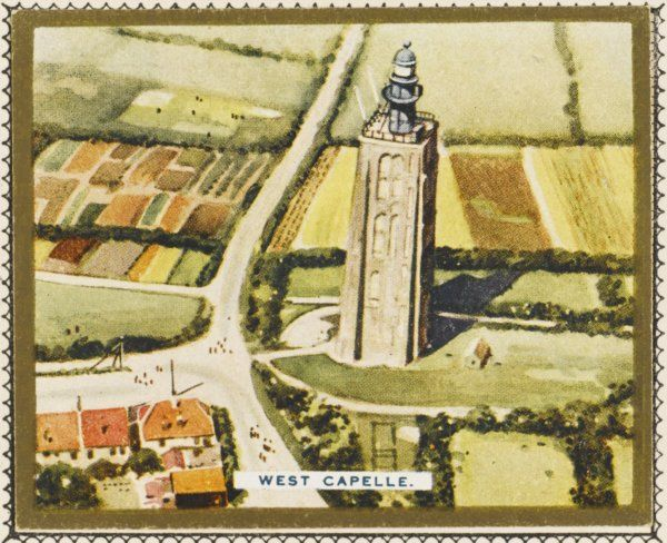 Aerial view of the famous lighthouse at West Capelle