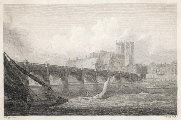 A prospect of the bridge with the Cathedral in the background
