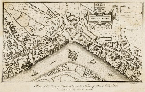 Map of Westminster at the close of Elizabeth's reign