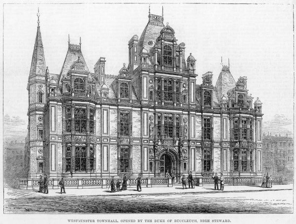 Westminster Town Hall, newly opened by the duke of Buccleuch