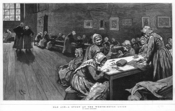 Women at the Westminster Union workhouse