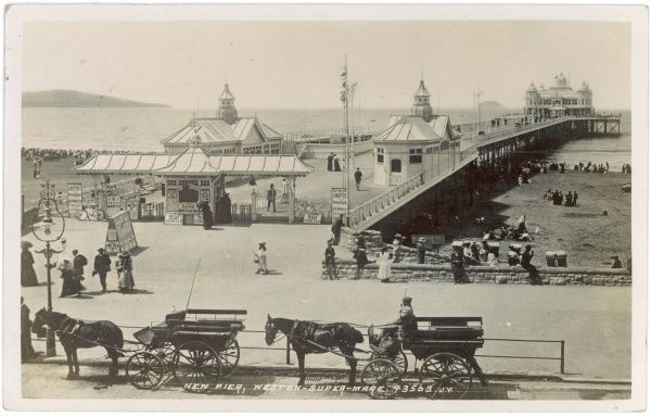 Weston-super-Mare, Avon: view of the new pier