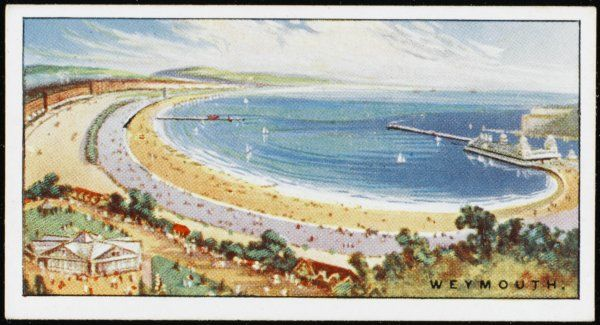 Weymouth, Dorset: the bay Date: 1920s