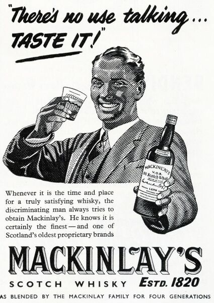 Advertisement for Mackinlay's Whiskey Date: 1953
