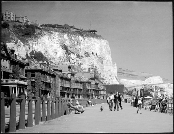The famous White Cliffs of Dover, Kent, England