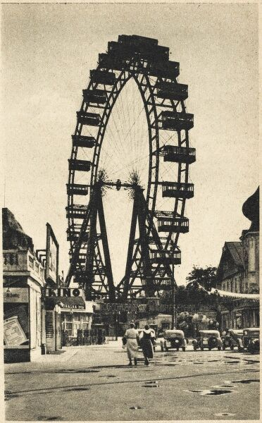The Wiener Riesenrad (German for 'Viennese Giant Wheel'), or Riesenrad is a Ferris wheel at the entrance of the Prater amusement park in Leopoldstadt, the 2nd district of Austria's capital Vienna. It was one of the earliest Ferris wheels