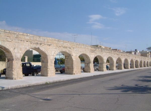 The Wignacout aquaduct, which once carried water from Birkirkara heights to Valletta, Attard, Malta