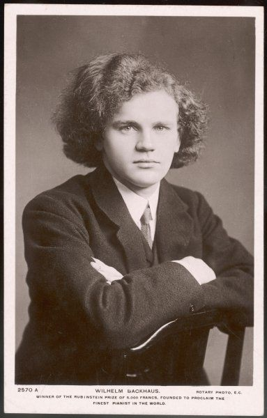 WILHELM BACKHAUS German pianist, best known for his interpretation of Beethoven