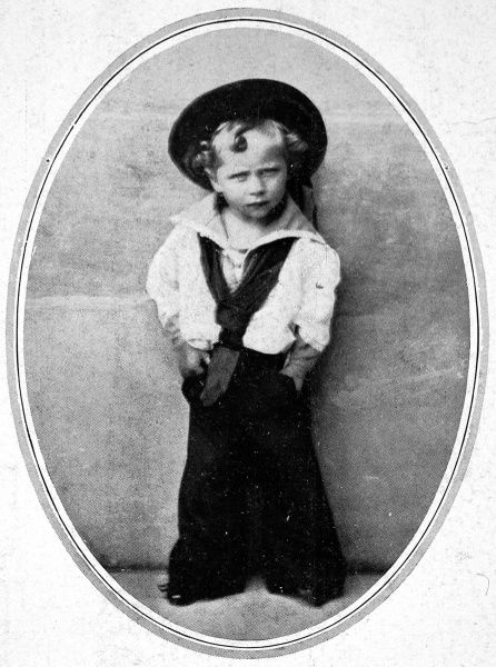 Photograph of Kaiser Wilhelm II as a small boy dressed in a sailor suit