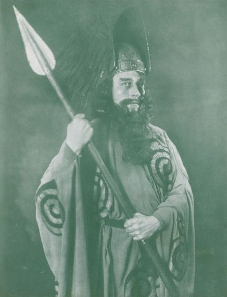 Wilhelm Trieloff, bass baritone singer at the Stadttheater Duisburg Bochum, as Wotan, in a production of Richard Wagner's Der Ring des Nibelungen