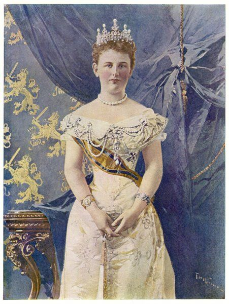 WILHELMINA, QUEEN OF HOLLAND Reigned 1890-1948 - she abdicated in favour of her daughter Juliana