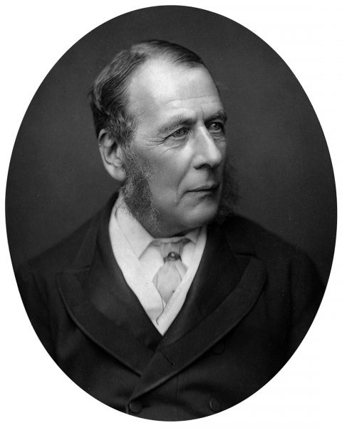Photograph portrait of William Ballantine (1812-1887), Serjeant-at-Law, pictured c.1880. He was known professionally as 'Serjeant Ballantine&#39