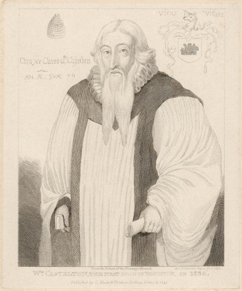 WILLIAM CASTLETON dean of Norwich, towards the end of his life when his beard had reached patriarchal proportions
