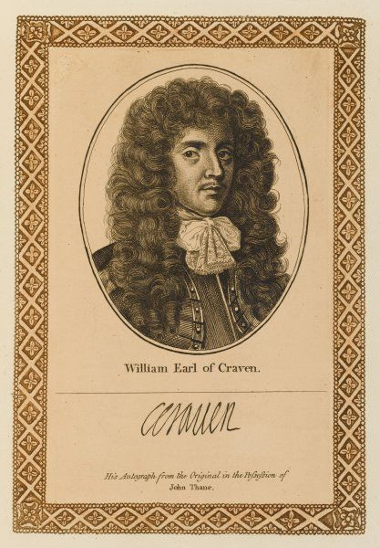 WILLIAM earl of CRAVEN soldier and statesman, said to have been secretly married to the queen of Bohemia with his autograph