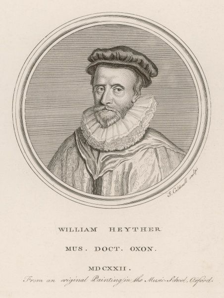 WILLIAM HEYTHER doctor of music at Oxford