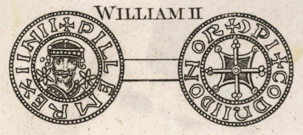 Coin of William II (William Rufus) second son of William I (circa 1056-1100)