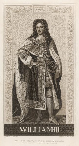 KING WILLIAM III Wearing ermine robes